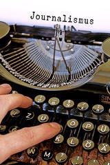 Alte Schreibmaschine, Journalismus Wort