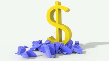 Dollaro schiaccia euro