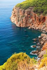 Beautiful Bay in A Sunny Day at Antalya Turkey