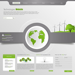 Eco Business Website Template Design Eps 10
