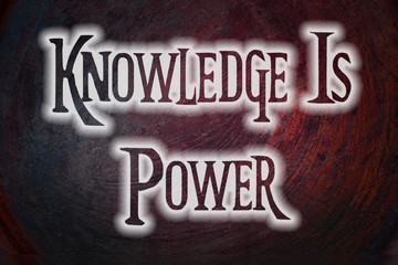 Knowledge is power concept