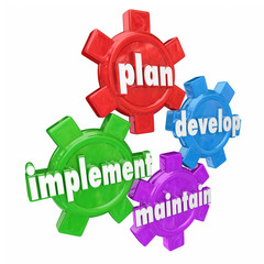 Plan Implement Develop Maintain Gears Organization Strategy Roll