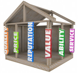 Quality Price Reputation Service Ability Value Home House Frame