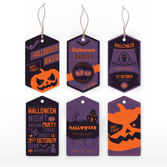 Halloween vintage labels