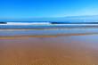 canvas print picture - Strand, Sand und der blaue Ozean