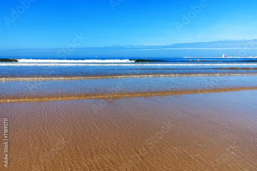 canvas print picture Strand, Sand und der blaue Ozean