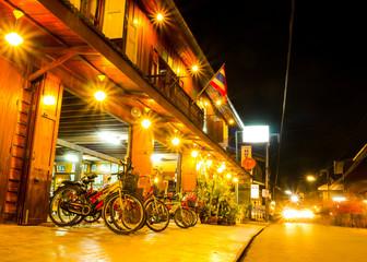 Night walking street market, Chiang Khan.
