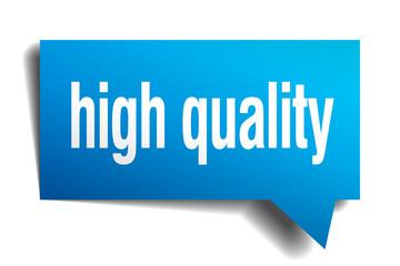 high quality blue 3d realistic paper speech bubble