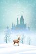 Obrazy na płótnie, fototapety, zdjęcia, fotoobrazy drukowane : Christmas Landscape Winter Castle