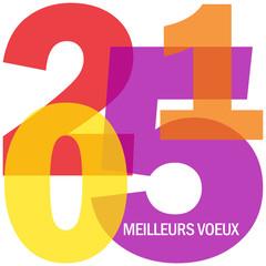 """Carte de Voeux Carte """"MEILLEURS VOEUX 2015"""" (bonne année)"""