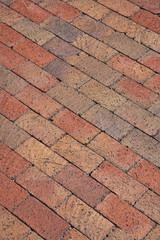 Pattern of a new brick walkway
