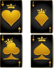 Casino cards with brilliant crowns