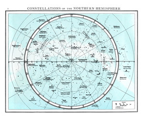 Constellations of the northern Hemisphere circa 1895