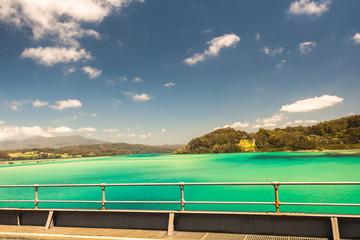Scenic Landscape Blue Lagoon Bridge