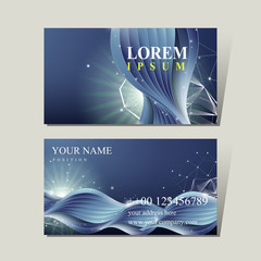 abstract technology background for business card