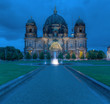 canvas print picture - Berlin Dom At Night