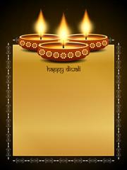 Artistic background design for Diwali