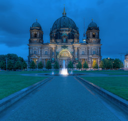 Berlin Dom At Night