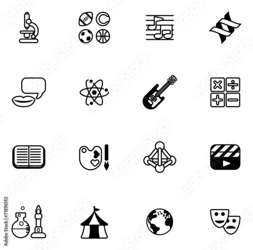 Subject Icons Free or Quiz Subject Icons