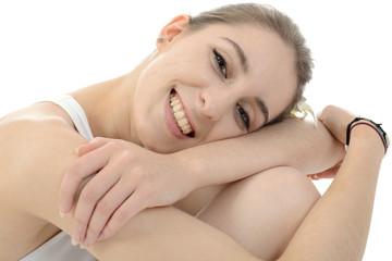 Frau bei Entspannung und Wellness