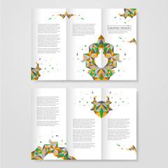 geometric colorful triangles design for tri-fold
