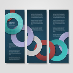 colorful circle layout design for banners set