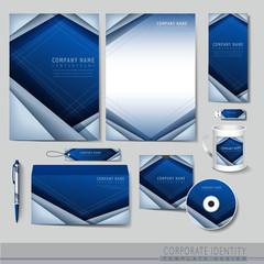 hi-tech background design for corporate identity set