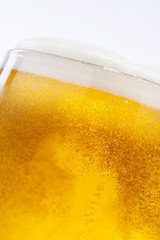 Beer bubbles in the high magnification and close-up