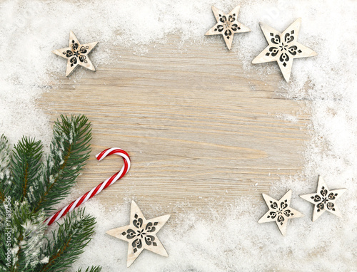 canvas print picture Weihnachtskarte