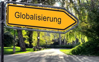 Strassenschild 25 - Globalisierung