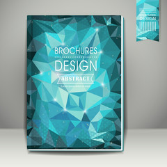 polygonal background for book cover template