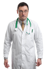 portrait of Thoughtful male doctor