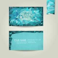 abstract polygonal background for business card