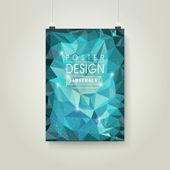 abstract polygonal background for poster template