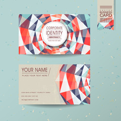 colorful geometric background design for business card