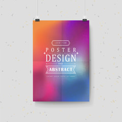 smooth colorful background design for poster