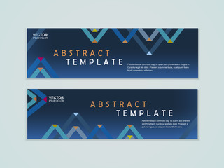 abstract paper folded pattern background for banners set