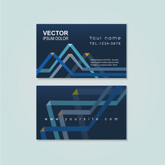 abstract paper folded pattern background for business card