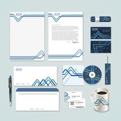 abstract paper folded pattern background for corporate identity