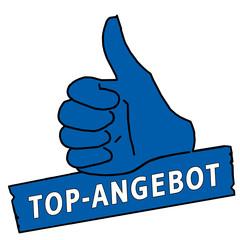 tus37 ThumbUpSign tus-v6 Daumen hoch Top-Angebot - blau g2137