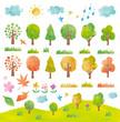 草木・風景・水彩タッチ素材 - 71900702