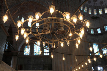 Chandelier of Sultan Ahmed mosque