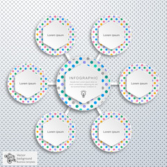 Infographics Vector Background #Polka Dots Plate