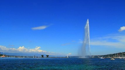 Geneva water fountain (Jet d'eau), Switzerland