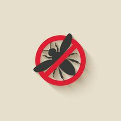 wasp warning sign