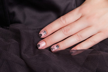 Portrait of beautiful gel polished nails
