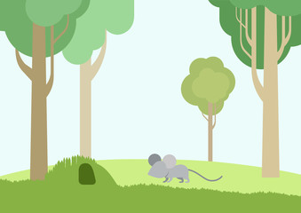 flat design cartoon vector wild animals pets birds