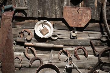 Old rusty tools