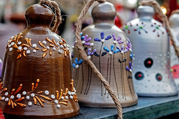 Bells decorative from clay 1