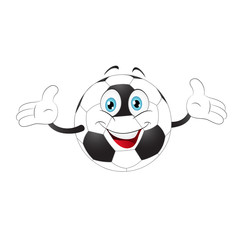 Cartoon soccer ball.